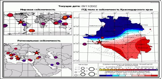 и средних землетрясений на